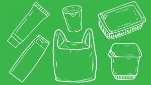 Nämä muovit saa kierrättää.