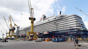 Mein Schiff 6 -aluksen luovutustilaisuus Meyer Turun telakalla.