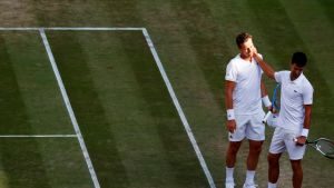 Thomas Berdych ja Novak Djokovic