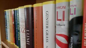 Kirjoja kirjat kirjallisuus kirjahylly kirjarivi Keltainen kirjasto Tammi Günter Grass