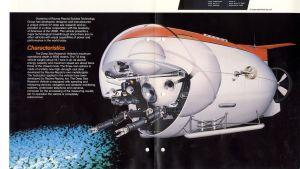 Vielä vuonna 1987 Rauma-Repola markkinoi sukelluspallojaan komeilla neliväriesitteillä englanniksi.