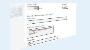Kuvakaappaus verkkopankin viestikentästä