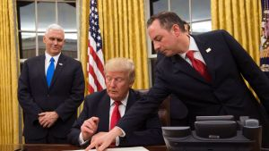 Pence, Trump, Priebus