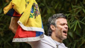 Oppositiojohtaja Leopoldo López kuvattuna 8. heinäkuuta.