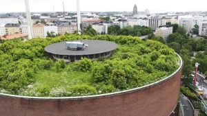 Linnanmäen vesitorniin on rakennettu viherkatto