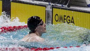 Riku Pöytäkivi uinnin lyhyen radan SM-kilpailuissa Vaasassa 18. marraskuuta 2016.