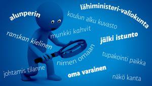 Kuvituskuva kielipoliisista.