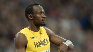 Usain Bolt alkuerän jälkeen