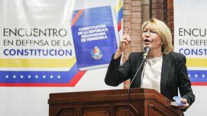 Venezuelan syrjäytetty valtionsyyttäjä Luisa Ortega puhui sunnuntaina 6. kesäkuuta opposition foorumissa.