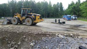 Härmälän kaatopaikkatyömaan kunnostusta