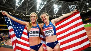 Emma Coburn ja Courtney Frerichs