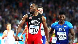 Trinidad yllätti miesten pitkässä viestissä