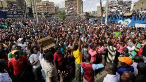 Keniassa osoitettiin mieltä vielä viikonloppuna presidentinvaalien tulosten jälkeen.