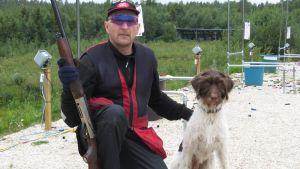 Risto Virtanen Laivakankaan ampumaradalla