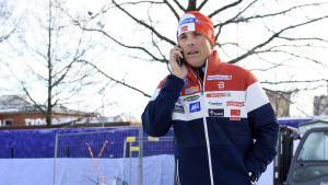 Norjan maajoukkueen päävalmentaja Vidar Löfshus.