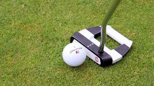 Golfpallo ja putteri.