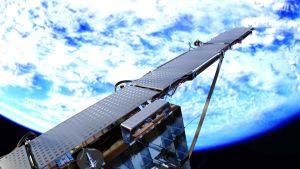 Satelliitti avaruudessa.