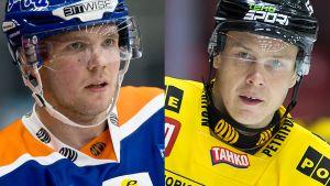 Jääkiekkoilijat Valtteri Kemiläinen (Tappara) ja Antti Halonen (Kalpa)