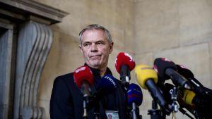 Kööpenhaminan poliisin murhaosaston päällikkö Jens Møller Jensen puhui lehdistölle 23. elokuuta 2017.