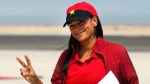 Isabel dos Santos kuvattiin Lobitossa Angolassa vuonna 2012.
