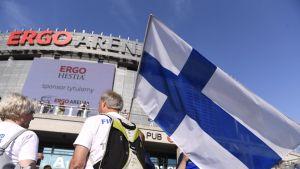 Suomi lentopallo kannattaja Gdansk areena