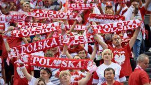 Puola lentopallomaajoukkue kannattajat Gdansk