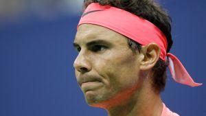 Rafael Nadalin kasvot lähikuvassa.