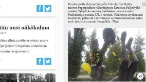 Järviseudun Sanomat, KPL, Pesäpalloilija-patsas