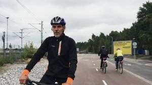 Pohjoisbaanalla pyöräilijöitä