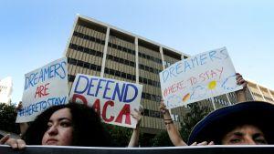 DACA-ohjelman säilyttämistä tukeva mielenosoitus