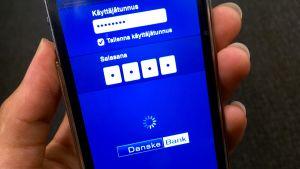 Danske Bankin mobiilipankki.