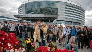 Lokomotiv muistotilaisuus Minsk