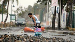 Hurrikaani Irman tuhoja Fajardossa, Puerto Ricossa 7. syyskuuta.
