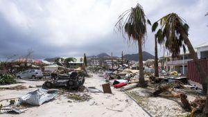Hurrikaani Irman tuhoja Saint Martinin saarella 7. syyskuuta.