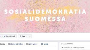 SDP:n Facebooksivu.