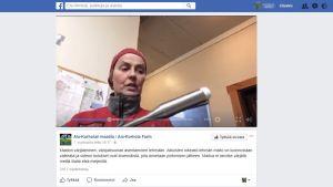 Ruutukaappaus Facebookista Ala-Korholan maatilan sivuilta.