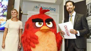 Toimitusjohtaja Henrik Husman toivotti Rovion toimitusjohtaja Kati Levorannan ja Angry Birdsin tervetulleeksi tiedotustilaisuuteen Nasdaq Helsingin Pörssitaloon 5. syyskuuta.