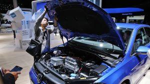 Volkswagenin sähköauto.