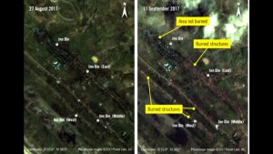 Satelliittikuva Myanmarista