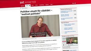 Kuvakaappaus SVT:n nettisivuilta.