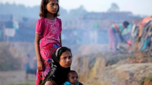 Rohingya-pakolaisia Bangladeshissa 17. syyskuuta 2017.