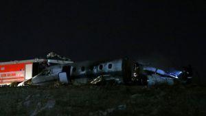 Tuhoutunut lentokone.