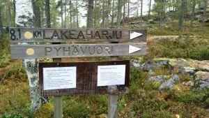 Alajärven Pyhävuorelta on kahdeksan kilometriä Lakeaharjulle.