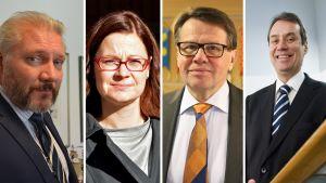 Jarkko Virtanen, Minna Arve, Kari Häkämies, Ville Itälä