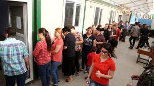 Mosulista paenneet pakolaiset äänestivät kurdialueen kansanäänestyksessä