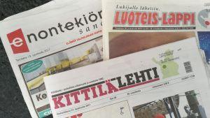 Luoteis-Lappi, Kittilälehti ja Enontekiön Sanomat.