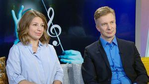Dalia Stasevska ja Teppo Ali-Mattila
