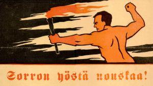 SDP:n vaalimainos lokakuun 1917 eduskuntavaaleihin.