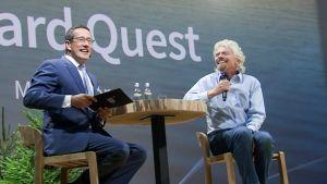 Richard Quest ja Richard Branson