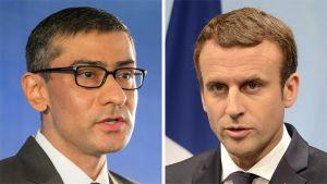 Rajeev Suri ja Emmanuel Macron.